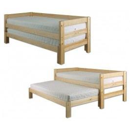 Dřevěná výsuvná klasická postel o šířce 90 cm typ KL134 KN095