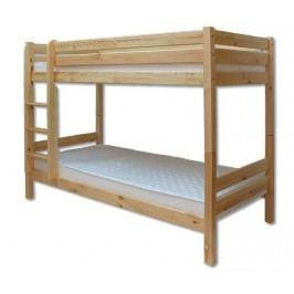 Dřevěná dětská patrová postel palanda o šířce 90 cm typ KL136 KN095