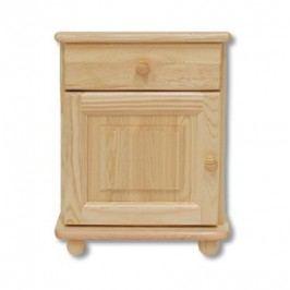 Dřevěný noční stolek se zásuvkou typ NS101 KN095