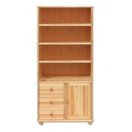 Dřevěný praktický regál s úložným prostorem typ WK126 KN095