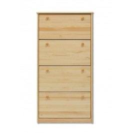 Dřevěný botník se 4 zásuvkami typ BS110 KN095