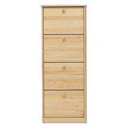 Dřevěný botník se 4 dvířky typ BS111 KN095