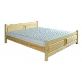 Dřevěná klasická postel o šířce 140 cm typ KL115 KN095