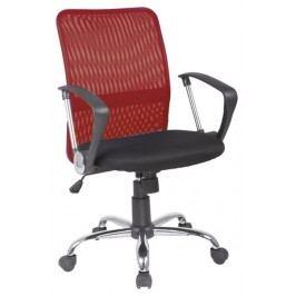 Kancelářská židle v červené a černé barvě KN057
