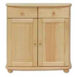 Dřevěná komoda bez moření typ DK142 KN095