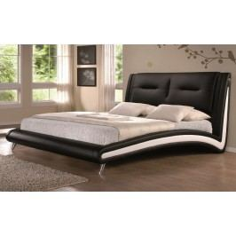 Elegantní nadčasová manželská postel 180x200 cm v černé ekokůži KN323