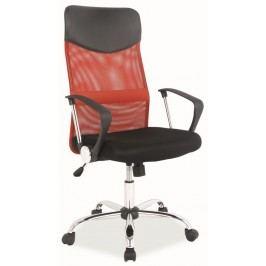 Kancelářská židle Q-025 červená/černá