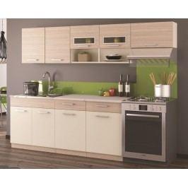 Kuchyňská linka MORENO II 240 cm vanilka/cocobollo