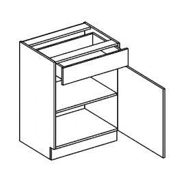 D60/S1 dolní skříňka se zásuvkou MORENO grafit bis
