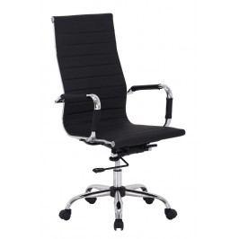 Čalouněné kancelářské křeslo v černé barvě typ Q040 KN102