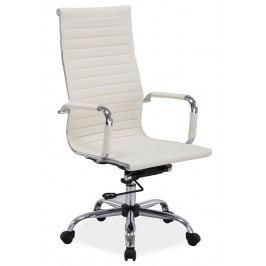 Čalouněné kancelářské křeslo v krémové barvě typ Q040 KN102