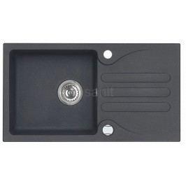 Algranitový dřez GALAPAGY s baterií ( set ), black