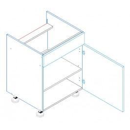 Skříňka dolní na varnou desku se záslepkou ALINA D60 PC pravá