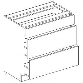 Skříňka dolní se zásuvkami EWA D80 S/3