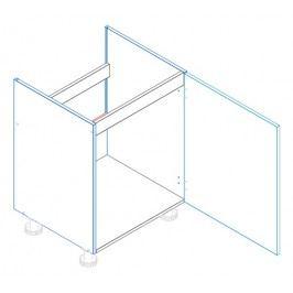 Skříňka dolní dřezová JUSTÝNA lak D60 ZL1 pravá