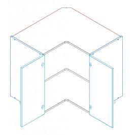 Skříňka dolní rohová JUSTÝNA lak DRP 90x90 cm