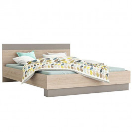 Manželská postel 160x200 v dekoru dub arizona TK2164