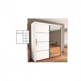 Šatní skříň s posuvnými dveřmi INOVA 200 bílá