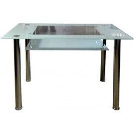 Jídelní stůl skleněný F056 bílý