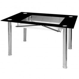 Jídelní stůl skleněný F056 černý new