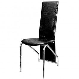 Jídelní židle F060 černá lesklá