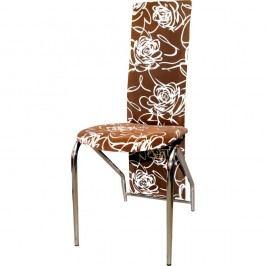 Jídelní židle F060 hnědobéžová