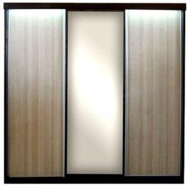 Šatní skříň F025 wenge, sonoma s posuvnými dveřmi