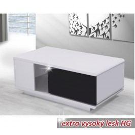 Konferenční stolek v luxusním provedení ve vysokém lesku bílá  Demba CT300