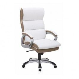 Kancelářské křeslo v luxusním provedení ekokůže bílá KOLO CH137020