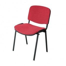 Konferenční židle v jednoduchém moderním provedení červená ISO NEW