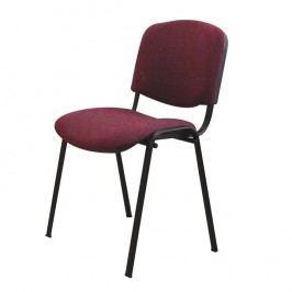 Konferenční židle v jednoduchém moderním provedení bordó ISO NEW