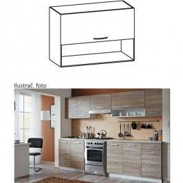 Skříňka do kuchyně, horní, dub sonoma/bílá, CYRA NEW G 80/57