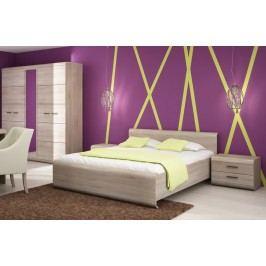 Sestava ložnice v moderním dekoru dub sonoma KN172