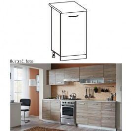 Skříňka do kuchyně, dolní, dub sonoma / bílá, Cyra NEW D 30