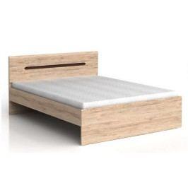 Manželská postel ELPASSO LOZ/160 dub san remo světlý/dub wenge hnědý 160x200 cm