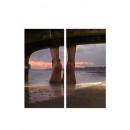 Sada obrazů 2ks, motiv: nohy na pláži OBK003 AKCE