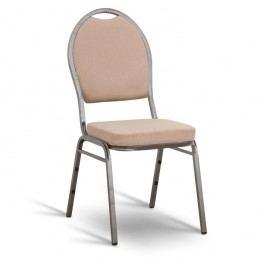 Konferenční židle stohovatelná v jednoduchém moderním provedení béžová JEFF NEW