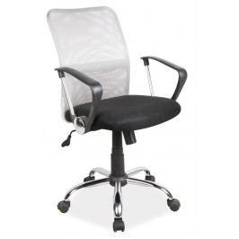 Kancelářská židle v bílé a černé barvě KN057