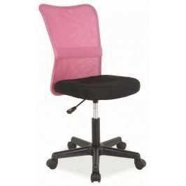 Kancelářská židle Q-121 černá/růžová