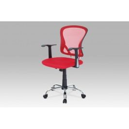 Kancelářská židle látka MESH červená KA-N806 RED