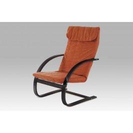 Relaxační křeslo ATC-11025 BR ořech / mirkoplyš AKCE