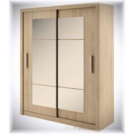 Šatní skříň s posuvnými dveřmi dub sanremo KN113