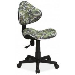 Dětská kancelářská židle s maskáčovým vzorem KN045