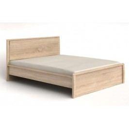 Manželská postel SENEGAL LOZ/160 dub sonoma 160x200 cm