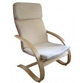 Relaxační křeslo pohupovací, béžové, F190