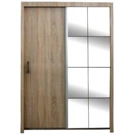 Šatní skříň s posuvnými dveřmi a zrcadlem 120cm F200