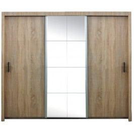 Skříň šatní s posuvnými dveřmi a zrcadlem 250cm F200