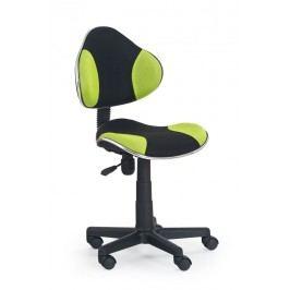 Židle dětská černo-zelená F177