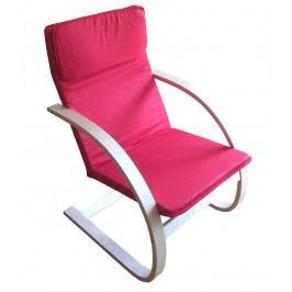 Relaxační křeslo pohupovací, červené, F190