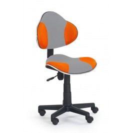 Židle dětská šedo-oranžová F177